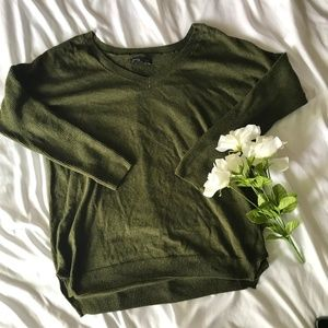 AEO Army Green Light Weight Sweater